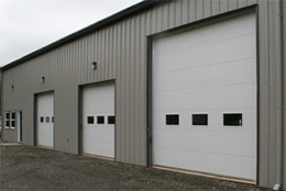 porte garage commercial 2 p